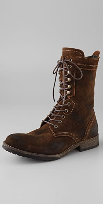 H by Hudson Dot Combat Boots