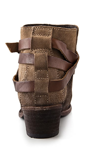 Hudson London Horrigan Suede Wrap Strap Booties