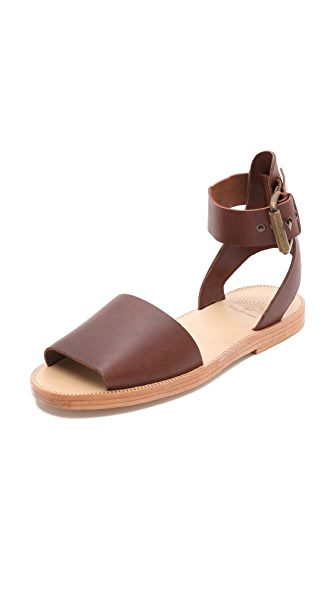 H by Hudson Soller Ankle Strap Flat Sandals