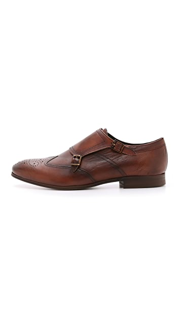 Hudson London Welch Double Monk Shoes