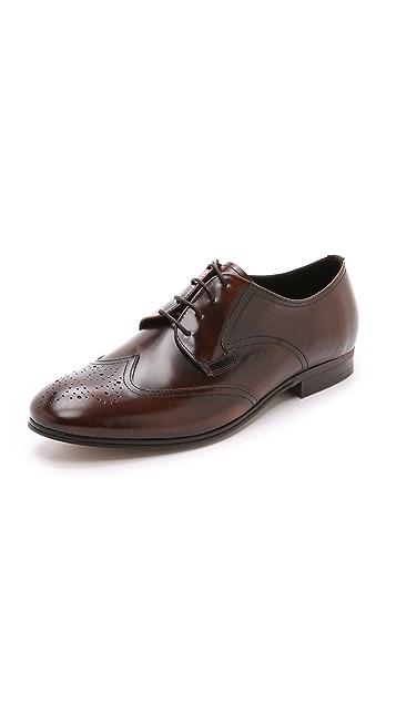 Hudson London Mansfield High Shine Wingtip Shoes