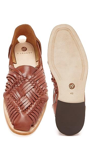 Hudson London Mato Leather Huaraches