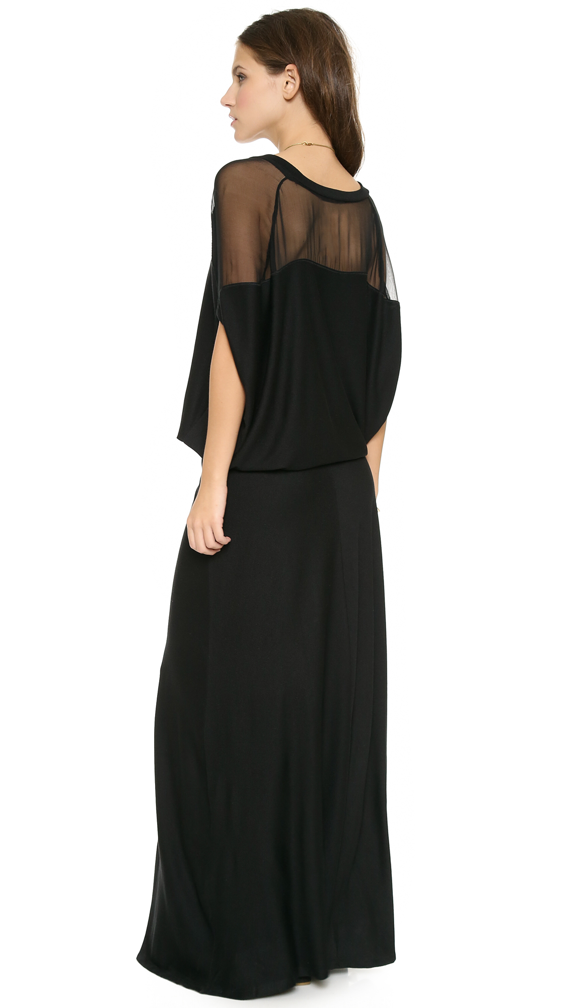 Heather blouson maxi dress