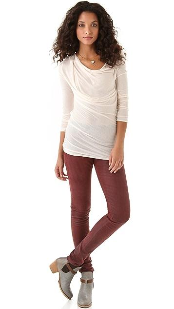 Heather Long Sleeve Cowl Top