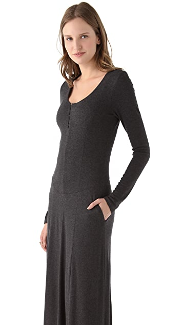 Heather Long Sleeve Rib Maxi Dress