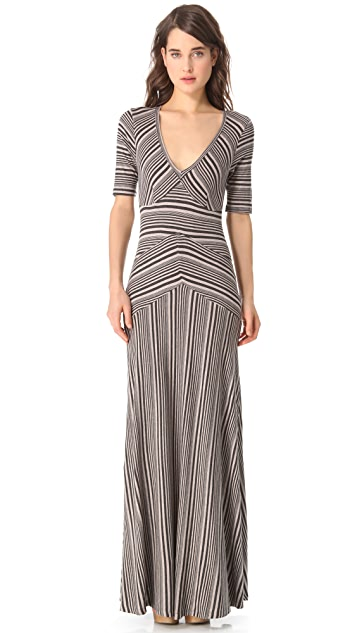 Heather V Neck Maxi Dress