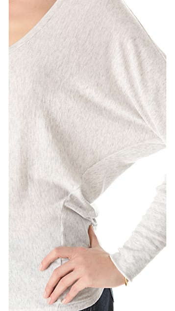 Heather Long Sleeve Cuff Tee