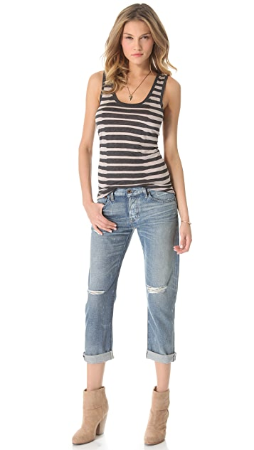 Heather Striped Basic Tank