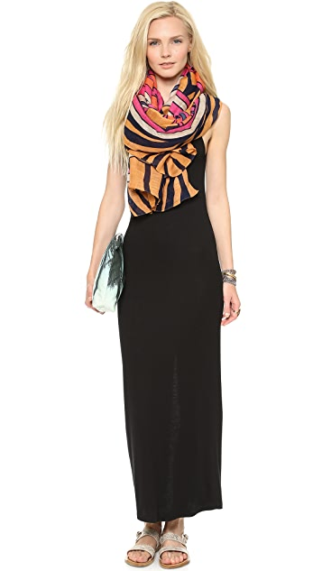 Heather Ribbed Maxi Dress with Slit