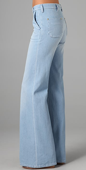 M.i.h Jeans Loon Bleach Wide Leg Jeans