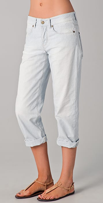 M.i.h Jeans London Boy Slouch Leg Cropped Jeans