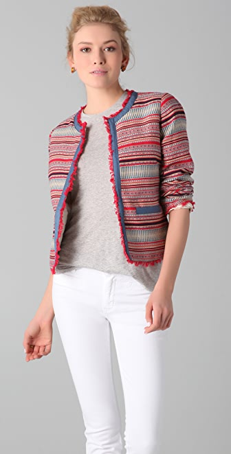 M.i.h Jeans Aztec Cropped Jacket