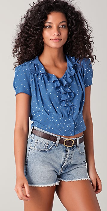 M.i.h Jeans Shirred Blouse