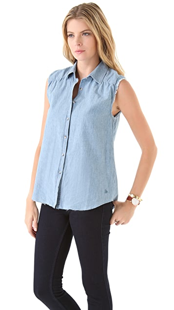 M.i.h Jeans Slim Trapeze Sleeveless Shirt