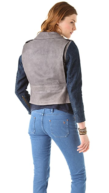 M.i.h Jeans Leather Pistol Pocket Biker Jacket