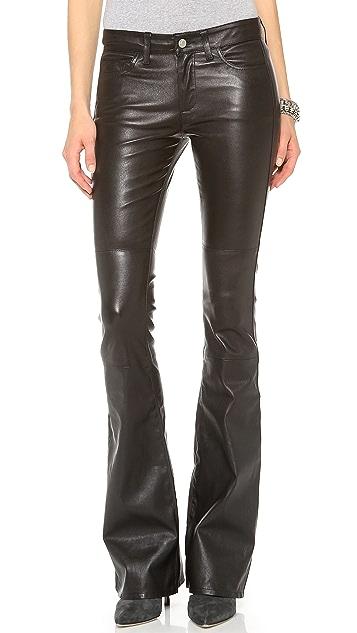 M.i.h Jeans Marrakesh Leather Kick Flare Pants