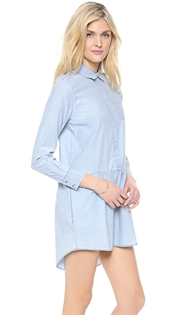 M.i.h Jeans The Gathered Shirtdress