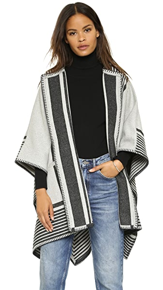 M.i.h Jeans Reversible Blanket Wrap