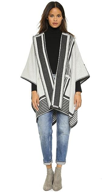 M.i.h Jeans Reversible Blanket Wrap