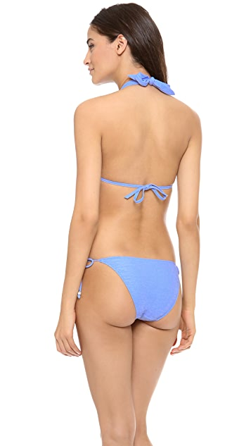 Heidi Klein Sainte Maxime Halter Padded Bikini Top