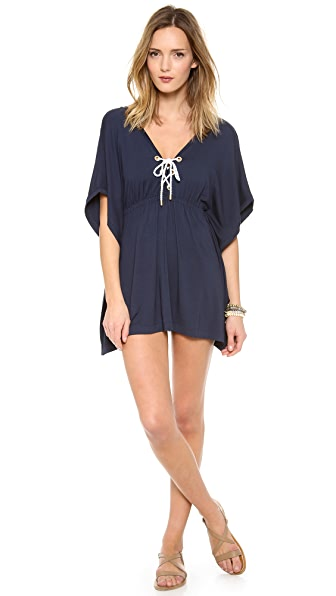 Heidi Klein Eyelet Batwing Cover Up Dress