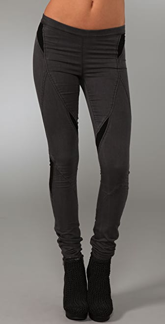 Helmut Lang Denim Smoke Wash Grey Combo Jeans
