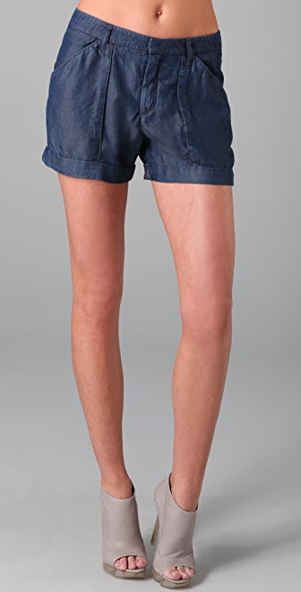 Helmut Lang Denim Silky Wash Shorts