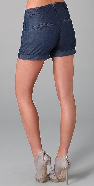 Helmut Lang Denim Silky Wash Shorts