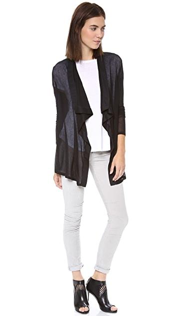 HELMUT Helmut Lang Voltage Draped Rib Cardigan