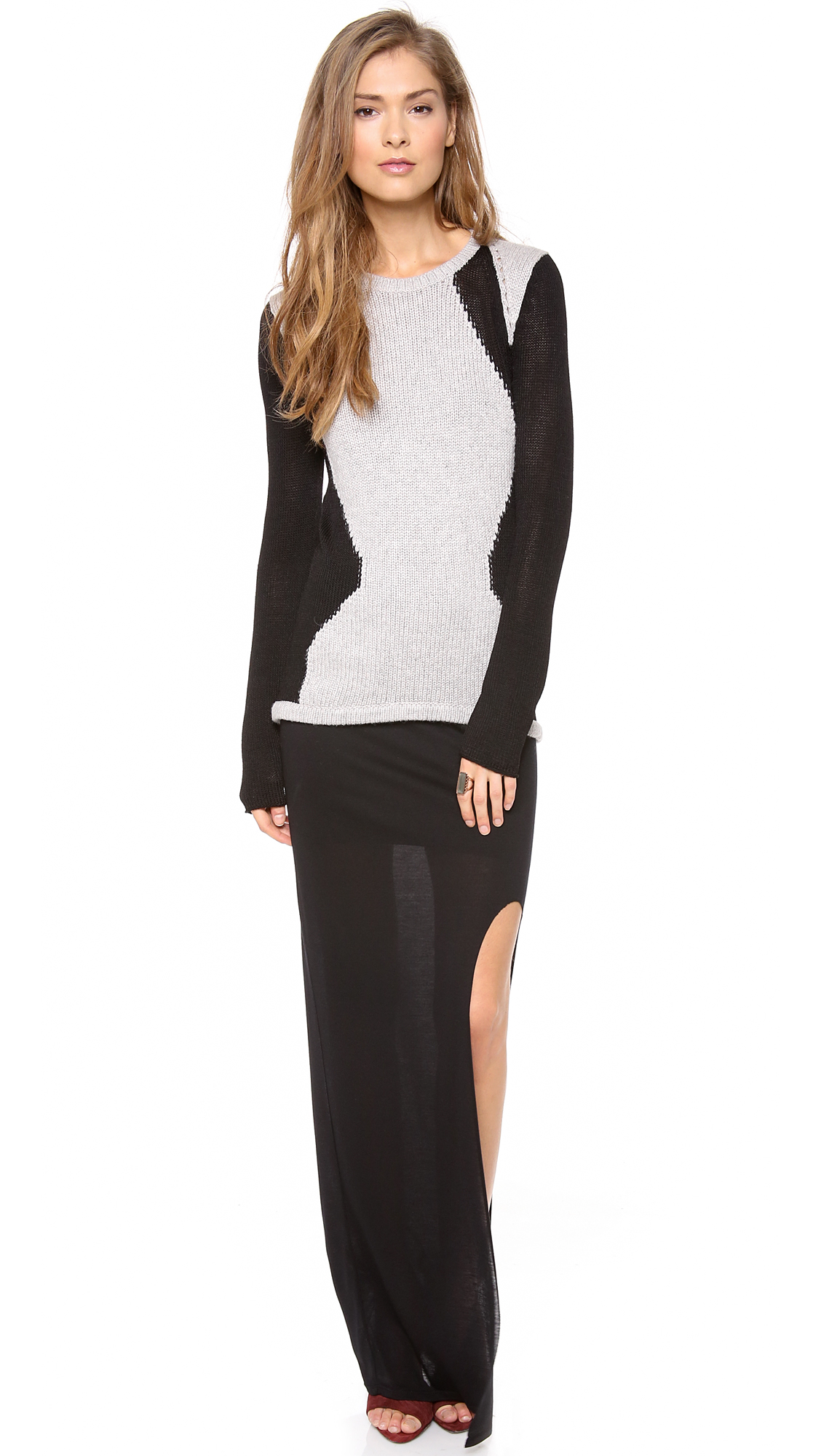HELMUT Helmut Lang Kinetic Side Slit Maxi Skirt | 15% off first ...