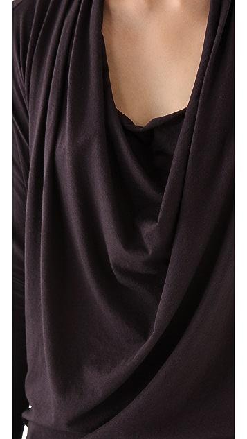 HELMUT Helmut Lang Feather Dolman Dress