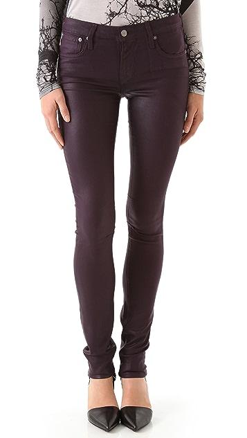 HELMUT Helmut Lang Gloss Wash 5 Pocket Skinny Jeans