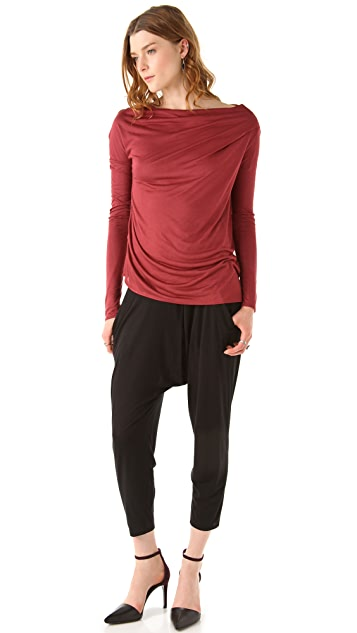 HELMUT Helmut Lang Kinetic Jersey Long Sleeve Top