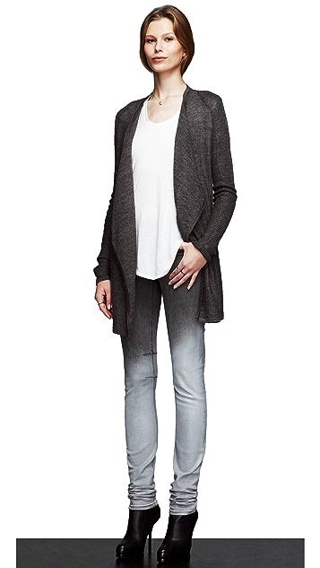 HELMUT Helmut Lang Fade Gloss Wash Skinny Jeans