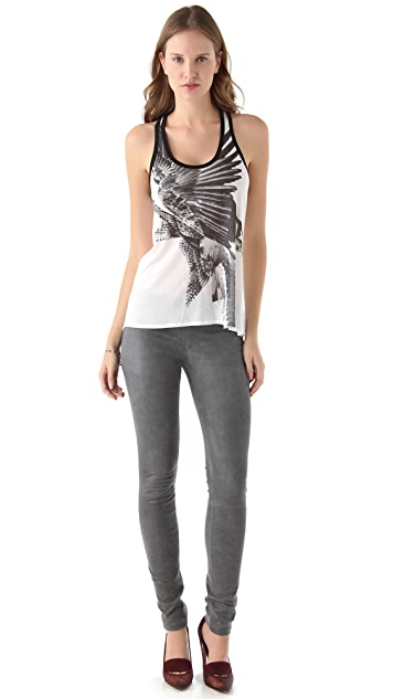 HELMUT Helmut Lang Bird Collage Tank