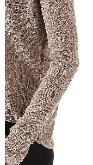 HELMUT Helmut Lang Burnout Boucle Pullover