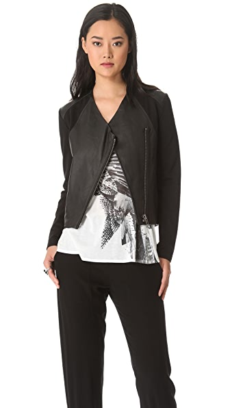 HELMUT Helmut Lang Washed Leather Jacket