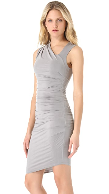 HELMUT Helmut Lang Tucked Draped Dress
