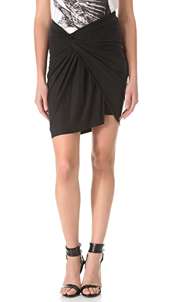 HELMUT Helmut Lang Twist Draped Skirt