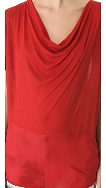 HELMUT Helmut Lang Polished Slub Jersey Top