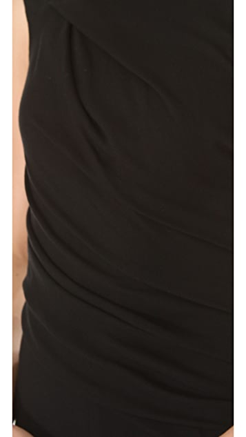 HELMUT Helmut Lang Flash Drape Twist Dress