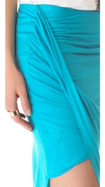 HELMUT Helmut Lang Kinetic Asymmetric Wrap Skirt