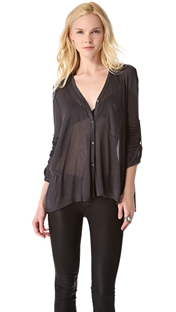 HELMUT Helmut Lang Electra Square Button Down Shirt
