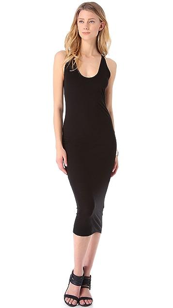 HELMUT Helmut Lang Feather Jersey Tank Dress