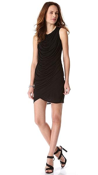 HELMUT Helmut Lang Kinetic Jersey Draped Dress