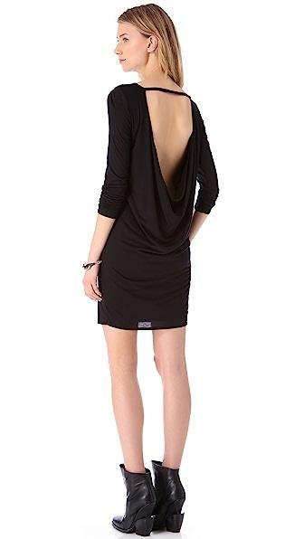 HELMUT Helmut Lang Kinetic Jersey Long Sleeve Dress