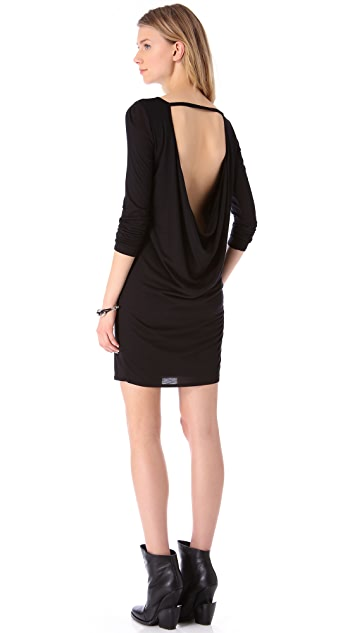 HELMUT Helmut Lang Kinetic Jersey Long Sleeve Dress
