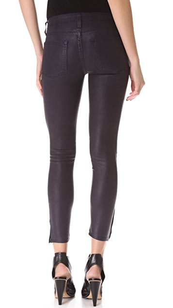 HELMUT Helmut Lang High Gloss Cropped Skinny Jeans