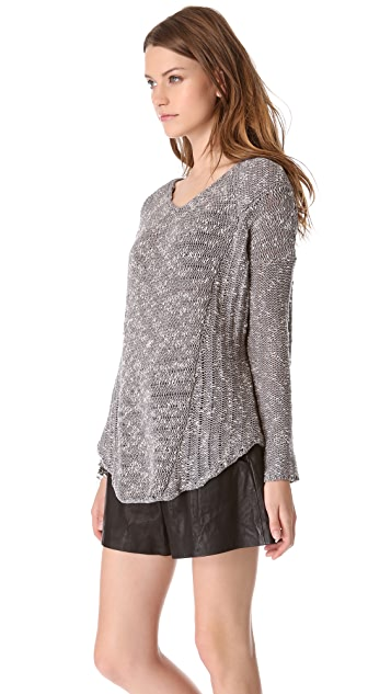 HELMUT Helmut Lang Caged Boucle Pullover