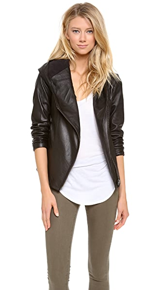 HELMUT Helmut Lang Hooded Leather Jacket